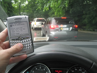 Texting and driving in traffic